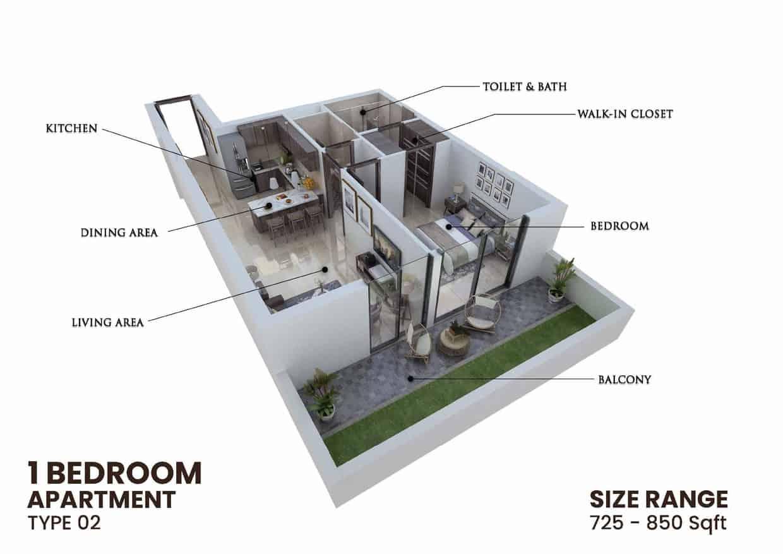 One Bedroom Apartment - Type 02