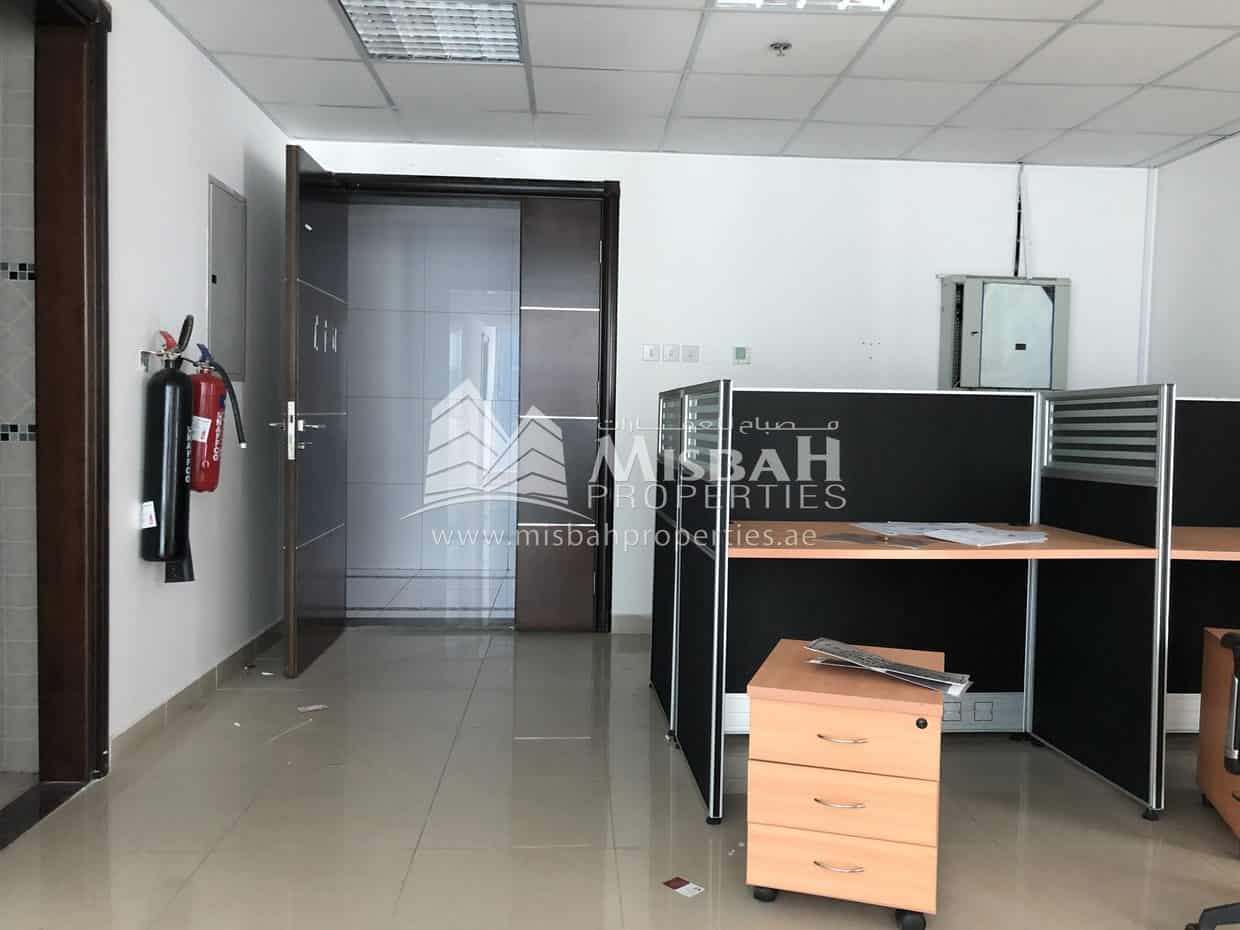 948 sq.ft, Partitioned Office with Free month and parking near Stadium Metro, Al Quasis