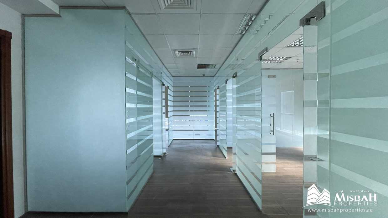 1,199 sq.ft Fully Fitted Office with Glass Partitions, 2 months Free, Chiller Free Building near Dnata, Port Saeed