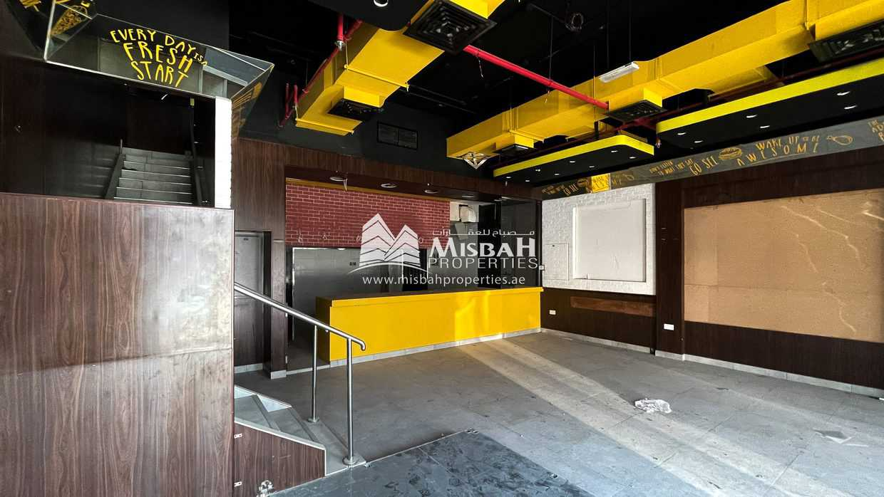 2,105 sq.ft. Fully Fitted Shop with G+M in Karama near Ansar Gallery