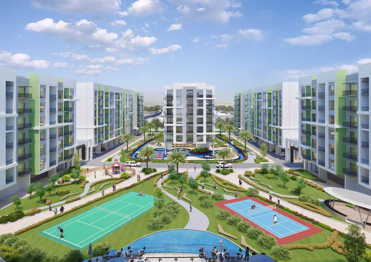 2 Bedroom Apartment   Pay 40% 1st Yr Rest 60% in 5 years after completion in Warsan First.
