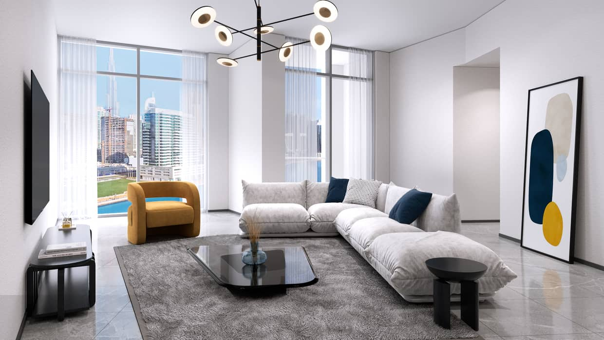 One Bedroom Apartment in Business bay with Completion Dec 2022, Canal or Burj Khalifa View