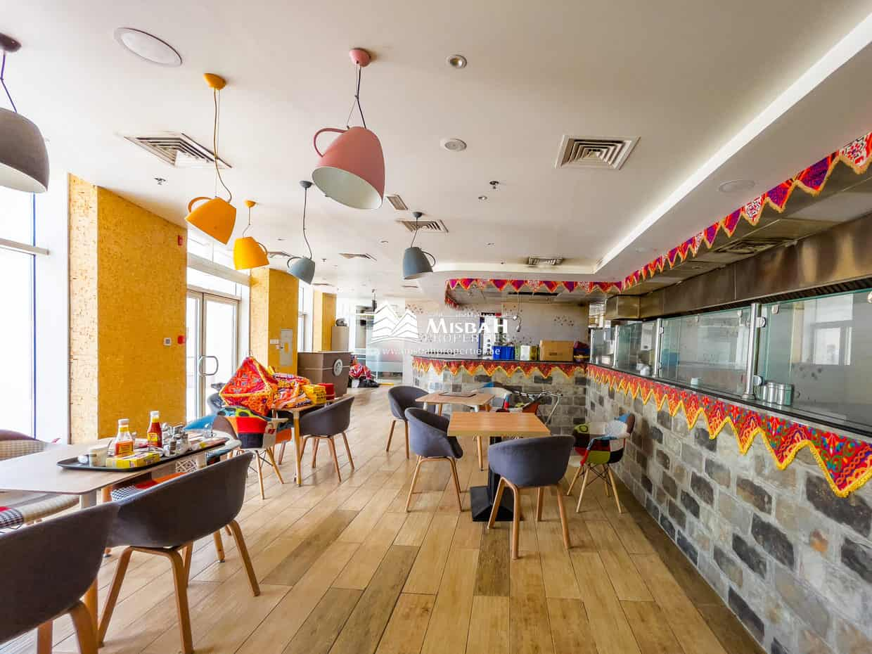 2,487 sq.ft, Fully Furnished, Fully Equipped Restaurant near Deira City Center