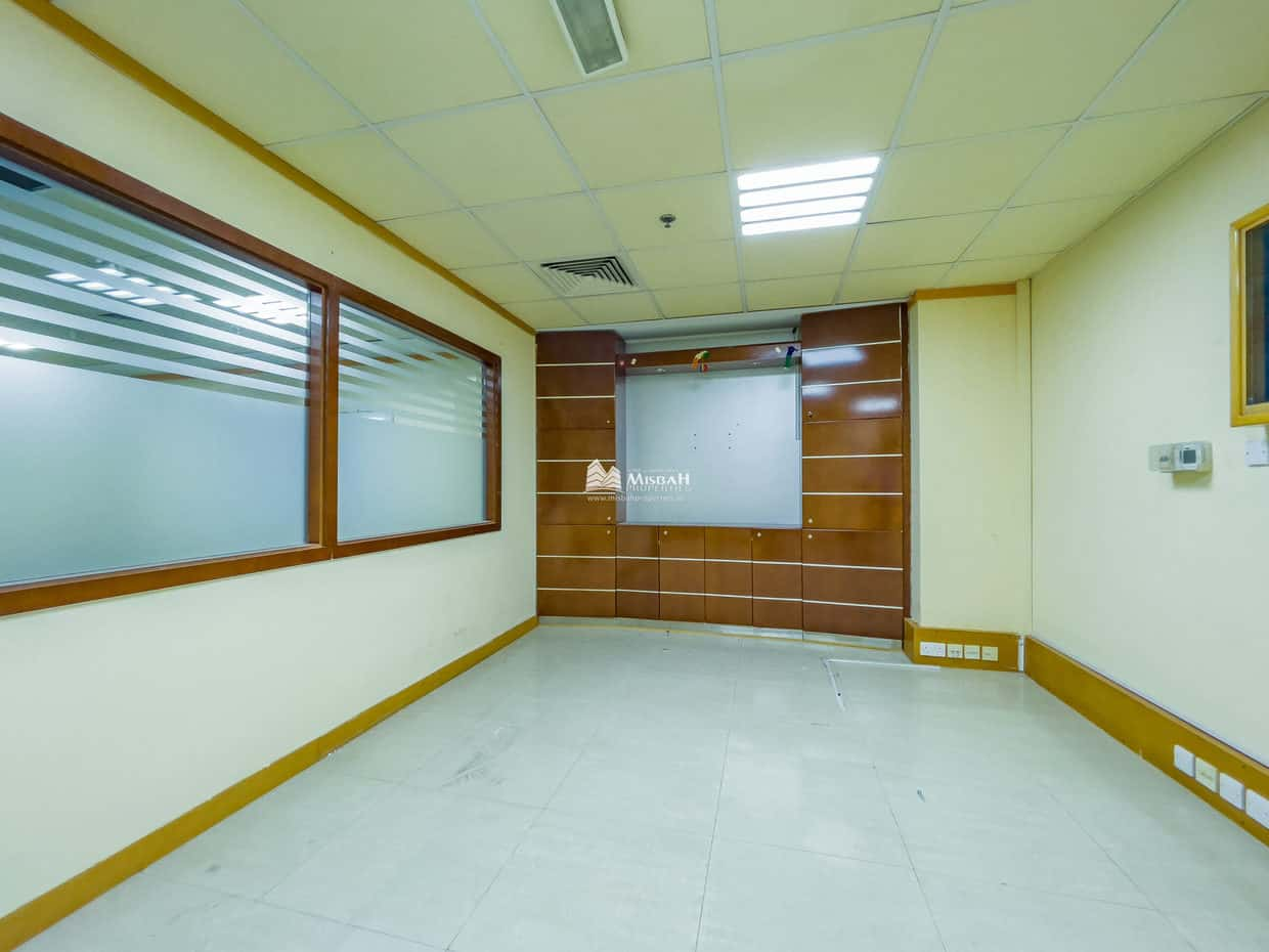 1749 sq.ft @ AED 50/sq.ft, 60 days Free, Fully Fitted, Partitioned Office with Free Chiller in Oud Metha