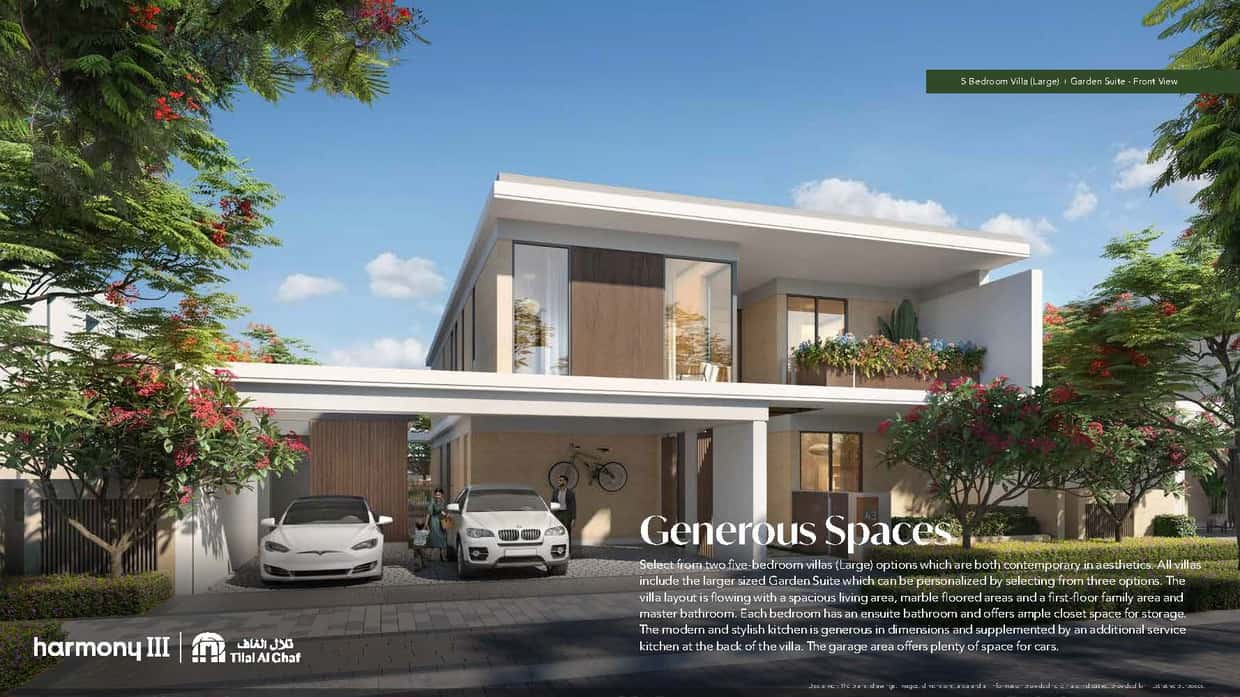 5 Bedroom Large Villa with Garden Suite opp. Dubai Studio City, completion June 2024 with payment plan.